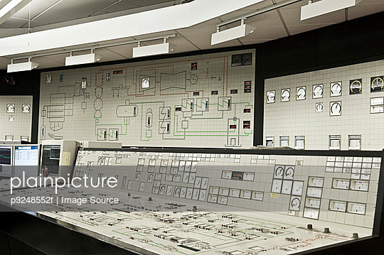 Control panel in power plant