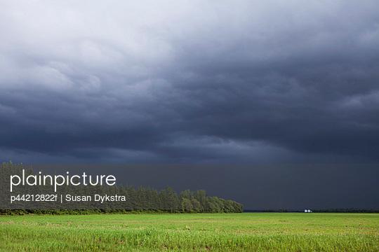 storm clouds over the prairies; winnipeg, manitoba, canada