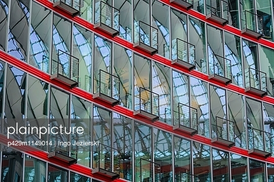 Modern office exterior at Sony Center, Berlin, Germany