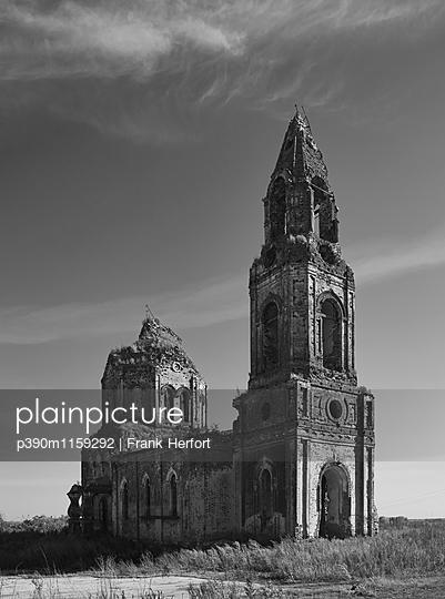 Ruine einer russischen orthodoxen Kirche in Russland - p390m1159292 von Frank Herfort