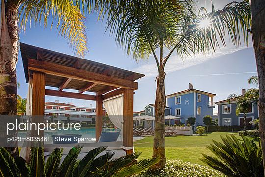 Luxury sun lounger at holiday resort