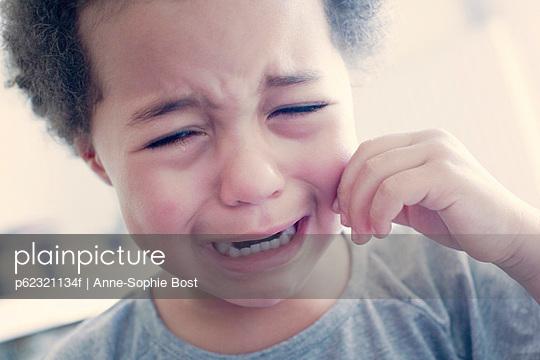Little girl crying, portrait