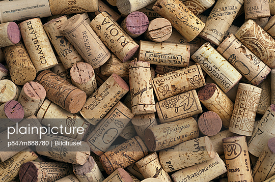 A Lot Of Corks From Wine Bottles