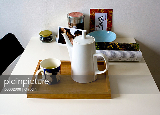 Morning tea on kitchen table