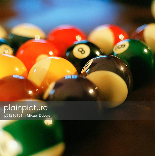 Billiard balls close-up.