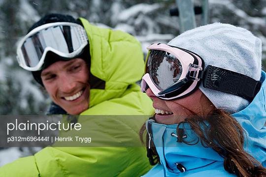 Skiers in ski-wear