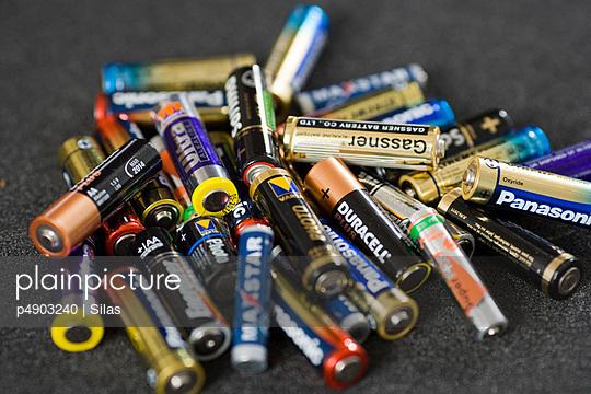 Heap of batteries