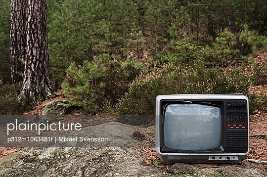 Abandoned old TV
