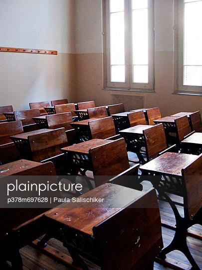 Old style school classroom