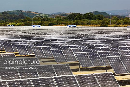 Solar Energy Centre Near Guadarranque; San Roque, Cadiz, Andalusia, Spain