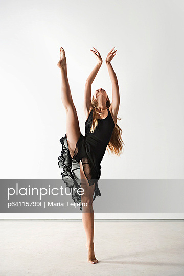 Dancer posing in gown