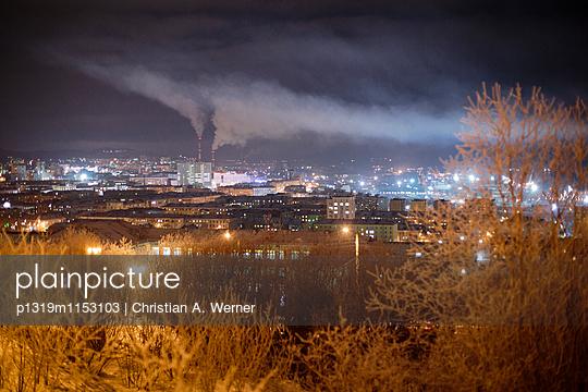 Stadtpanorama Murmansk im Winter - p1319m1153103 von Christian A. Werner