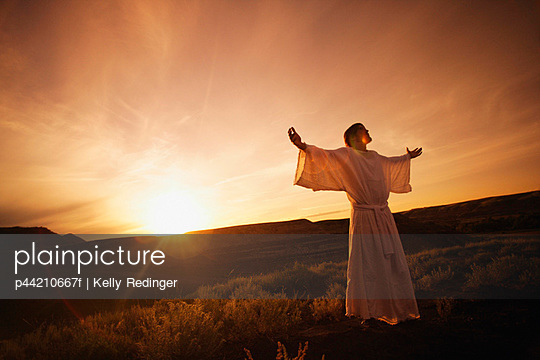 Jesus With Arms Outstretched