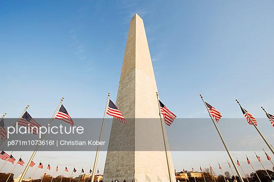 Washington Memorial Monument, Washington DC., United States of America, North America