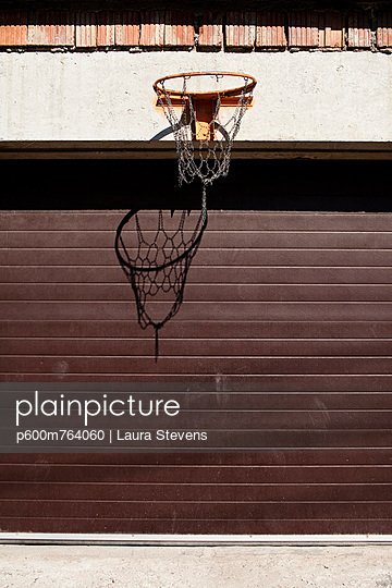 Lonely Basketball Basket