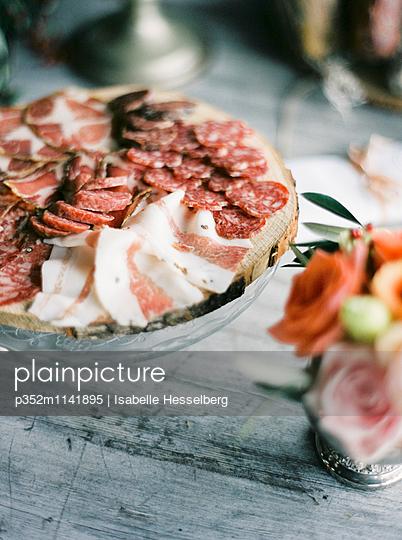 Italy, Italian meat on cutting board