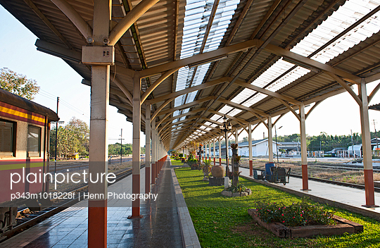 train station in Chiang Mai in northern Thailand