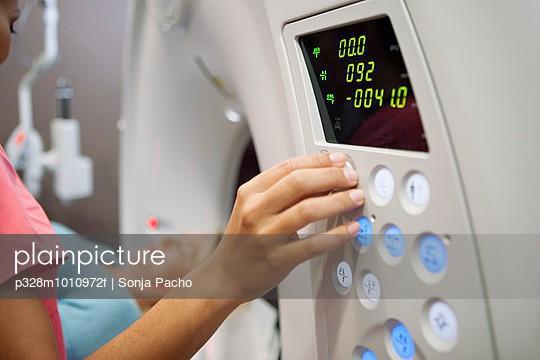 Patient in CAT scanner