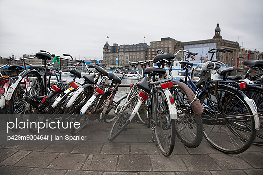Rows of parked bicycles, Amsterdam, Netherlands