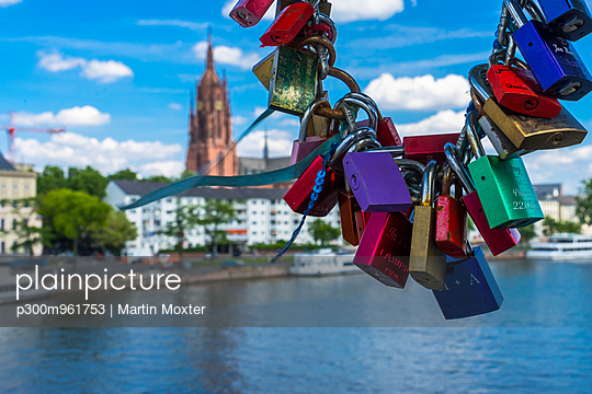 love locks at bridge Eiserner Steg