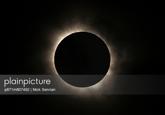 Total eclipse of the sun with solar flares visible, 13 November 2012 from Palm Cove, Cairns, North Queensland, Australia, Pacific