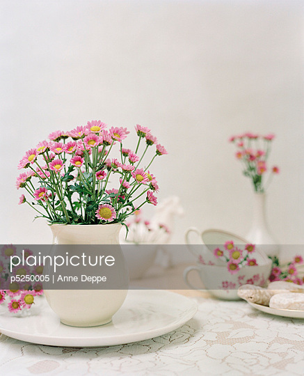 Decoration of pink flowers