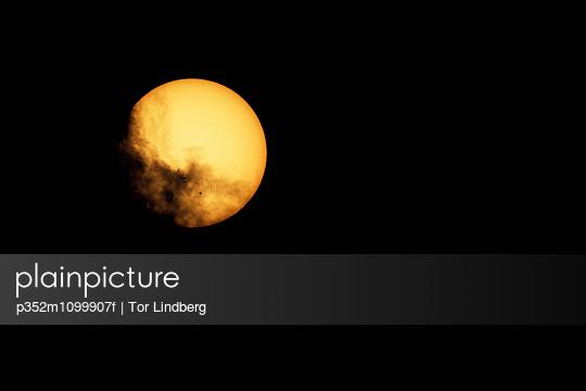 Full moon on dark sky, Sweden