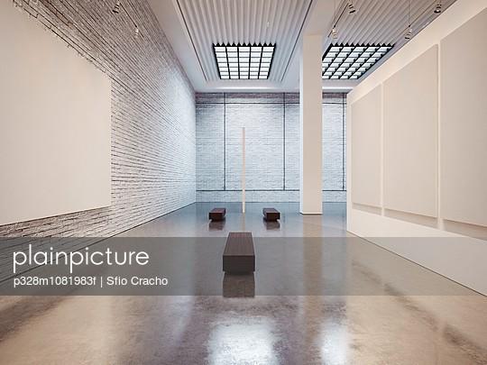 Empty contemporary interior of gallery