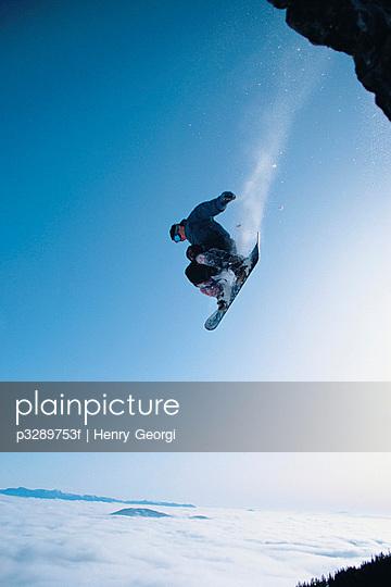 Snowboarding, Red Mountain Ski Resort, Rossland, British Columbia