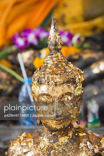 Buddhist sculpture in Bangkok temple