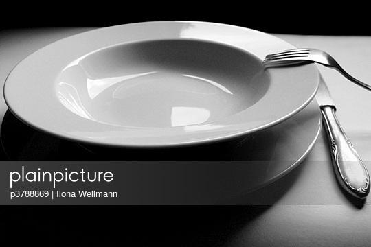 Soup plate fork knife