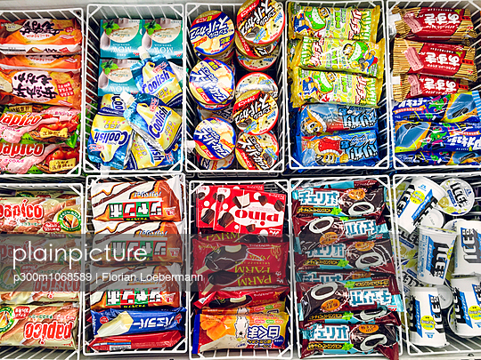 Japan, packaged icecream in supermarket