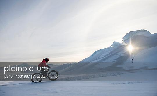 Mountain Biking on Ross Island, Antarctica.