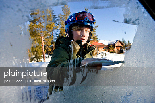 A girl wearing ski goggles Sweden