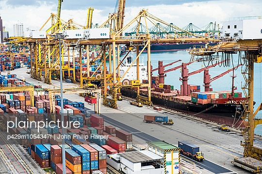 Shipping containers, Port of Singapore, Singapore
