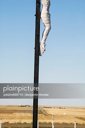 Crucifix In Catholic Cemetery;Saskatchewan Canada