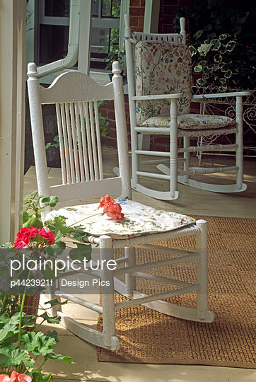 Rocking chairs on country porch
