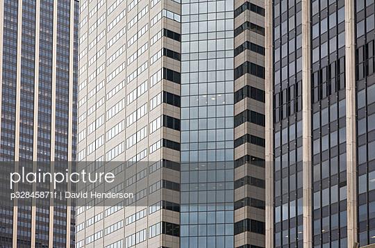 Windows on tall skyscrapers