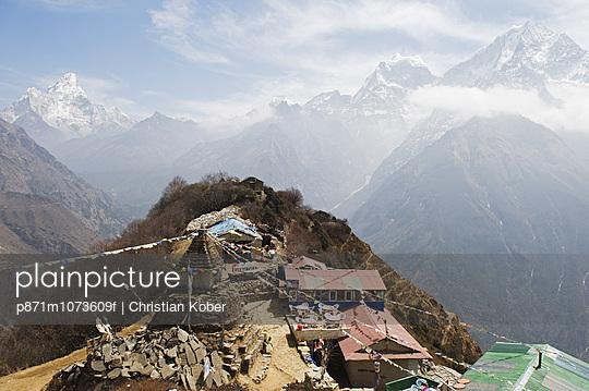 View of Ama Dablam, 6812m, Solu Khumbu Everest Region, Sagarmatha National Park, Himalayas, Nepal, Asia