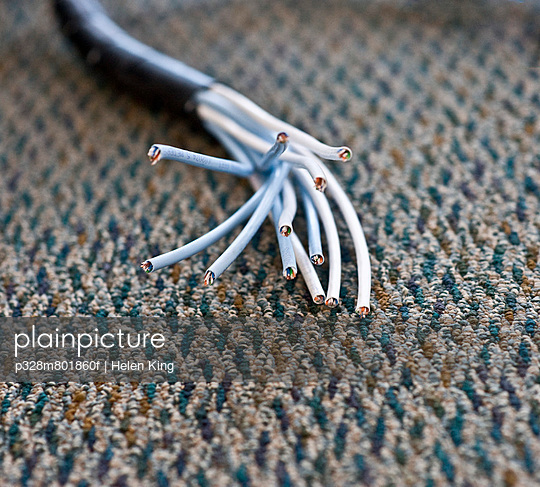 Exposed data cable wires