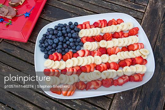 Amerikanischer Obstteller - p1057m1146274 von Stephen Shepherd