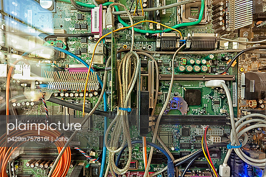 Close up of wires on circuit board