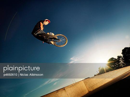 bmx biker jumps