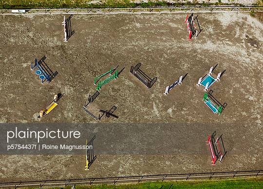 A paddock from above