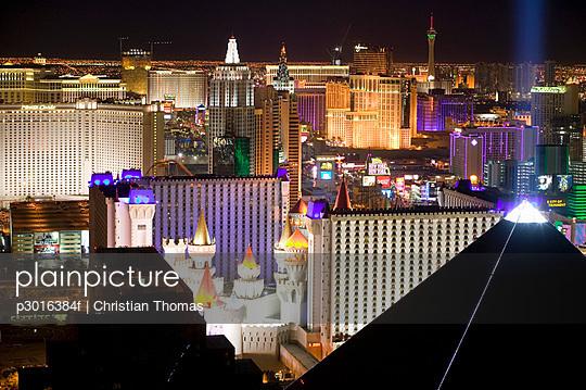 Cityscape at night, Las Vegas, Nevada