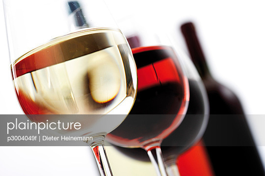 Glasses of wine, close-up
