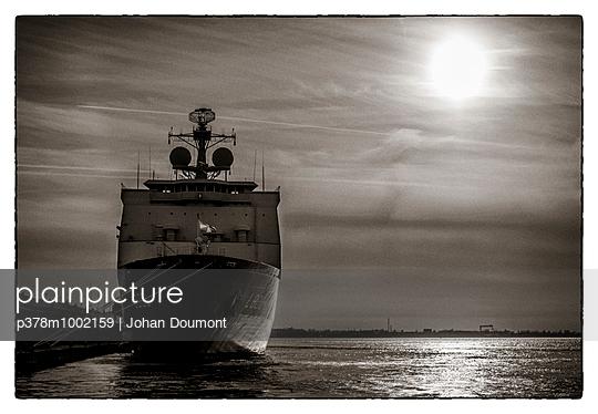 Sea ship docked