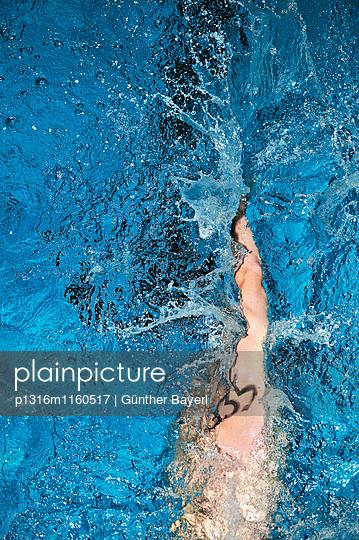 24 Stunden Schwimmen, Freibad Spiesel, Aalen, Schwäbische Alb, Baden-Württemberg, Deutschland - p1316m1160517 von Günther Bayerl