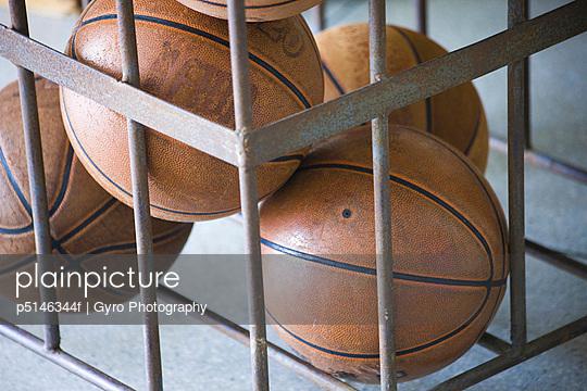 Basketballs in a basket