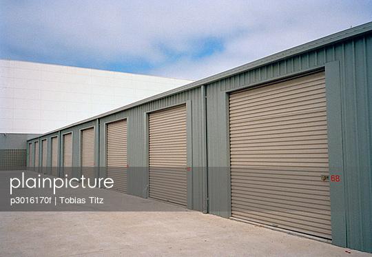 Warehouse with rolling garage doors